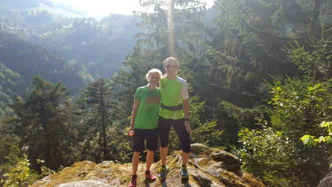 2018-08-04 Traininglauf Uhufels Meri+Christin