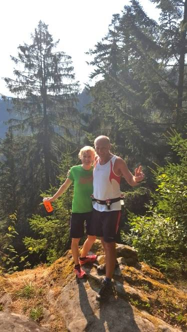 2018-08-04 Traininglauf Uhufels Meri+Thomas
